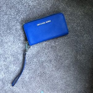 Michael Kors royal blue wallet